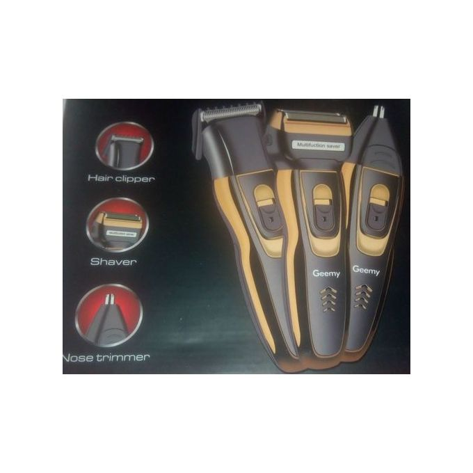 Geemy 3-in-1Reachargable Electric Shaver,Smoother And Nose Trimmer