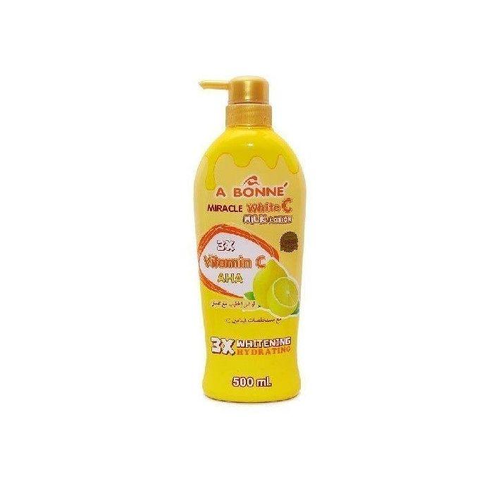 A Bonne Miracle White C Milk Lotion UV Moisture & Hydrating - 500ml