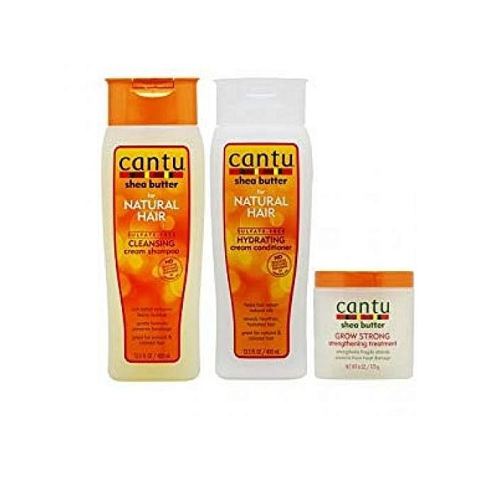 Cantu Sulfate+CleansingCream Shampoo +HydratingCreamConditioner +Grow Strong Treatment Set norm 500g