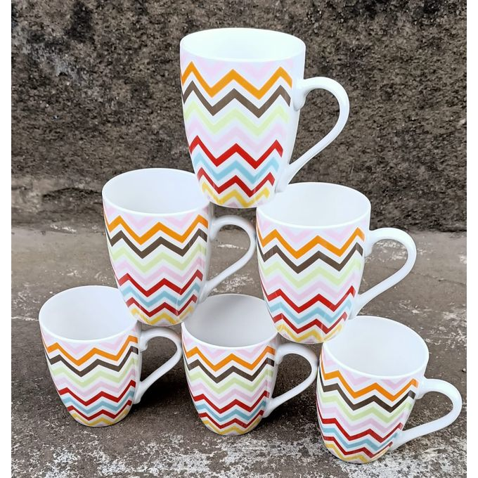 Generic Classic Ceramic Mugs For Tea/Coffee Set(6) (Vikombe)