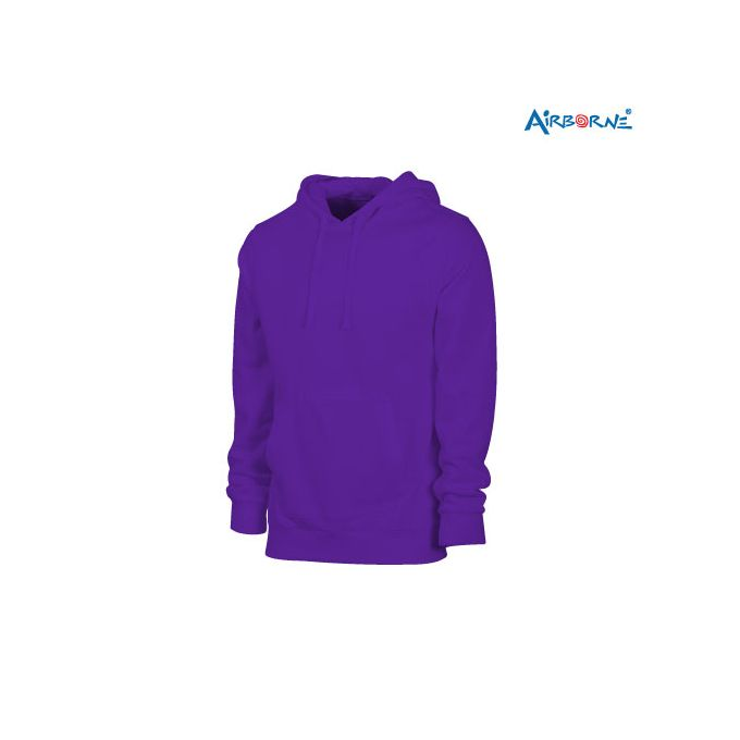 Airborne gents hooded sweat jacket 50% cotton 20% polyester