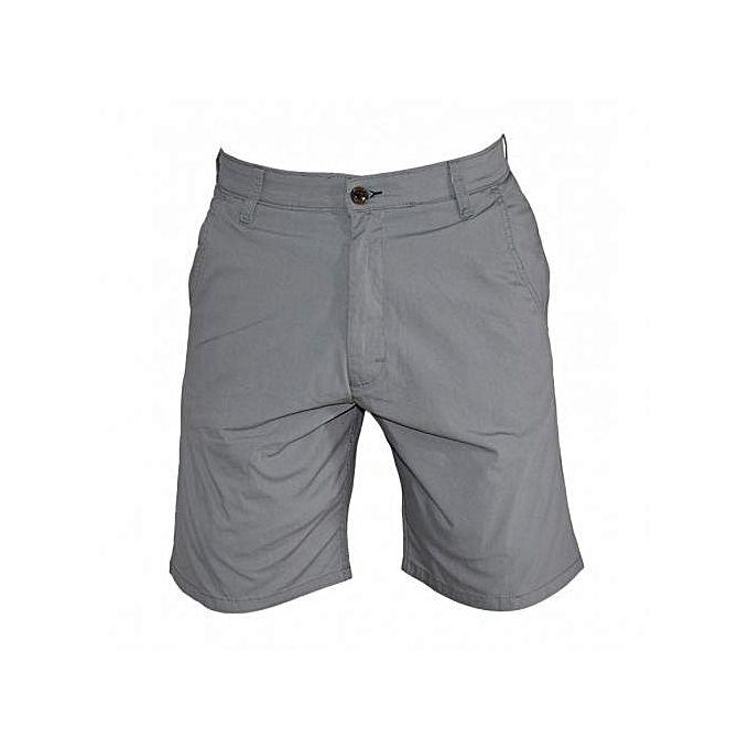 Fashion Grey Men's Casual Kakhi Shorts+Free socks