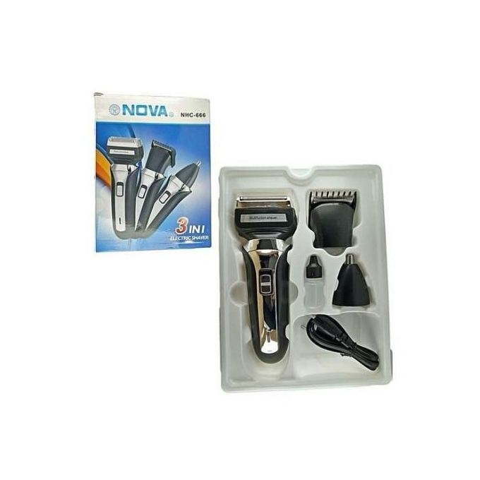Nova 3 In 1 Rechargale Hair Clippers, Shaver And Nose Trimmer