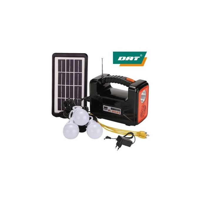 Dat Home Solar Light With Radio And Multiple Phone Charger