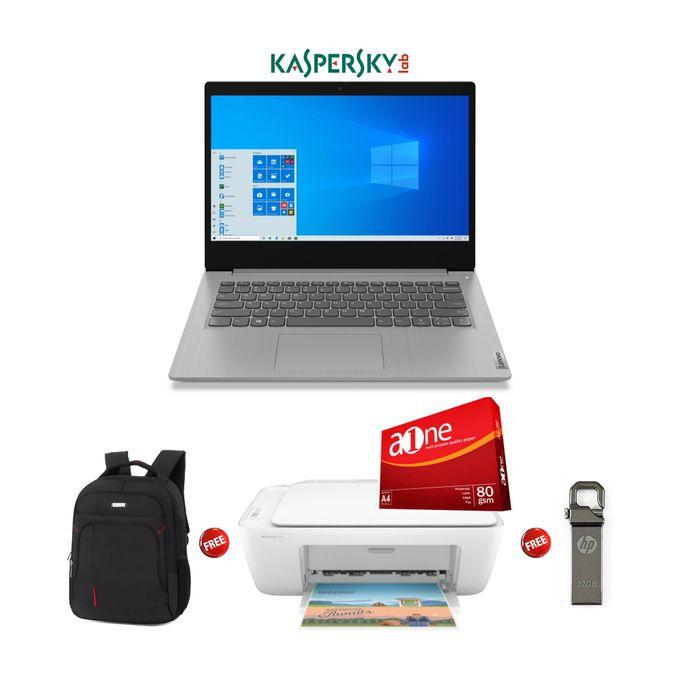 Lenovo Ideapad 3-Intel Celeron-1TB HDD-4GB RAM-Windows 10-Kaspersky-Grey+Free Bag+HP 2320 Printer