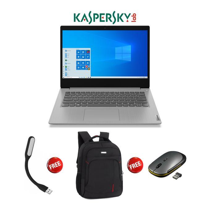 Lenovo Ideapad 3-Intel Celeron-1TB HDD-4GB RAM-Windows 10-Kaspersky-Grey+PBag+LED+Mouse