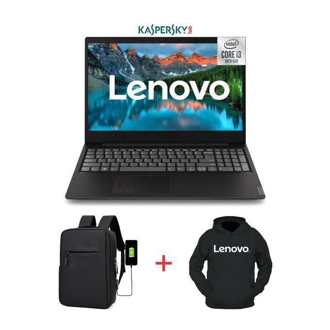 Lenovo Ideapad S145-15.6-10th Gen Intel Core I3-1TB HDD-4GB RAM-Windows 10-Black+Bag+Hoodie