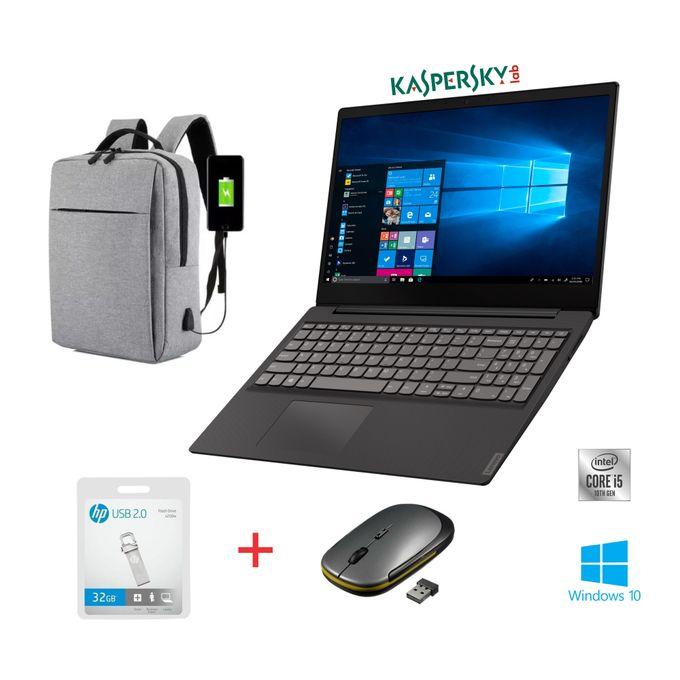 Lenovo Ideapad S145-15.6-10th Gen Intel Core I5-4GB RAM-1TB HDD-Windows 10-Black+Bag+Mouse+32GB Flash