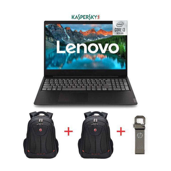 Lenovo Ideapad S145-15.6-10th Gen Intel Core I3-1TB HDD-4GB RAM-Windows 10-Black+2 Bags+32GB Flash