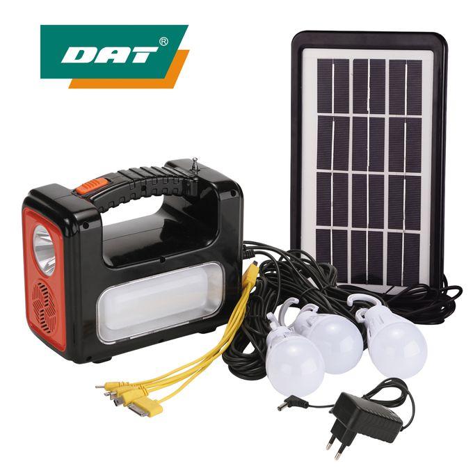 Solar Light DAT Solar System Kit With MP3 And Radio DC Solar Lighting Kits With USB