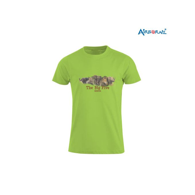 AIRBORNE Tourist Tshirt With Embroidered The Big Five Overlap