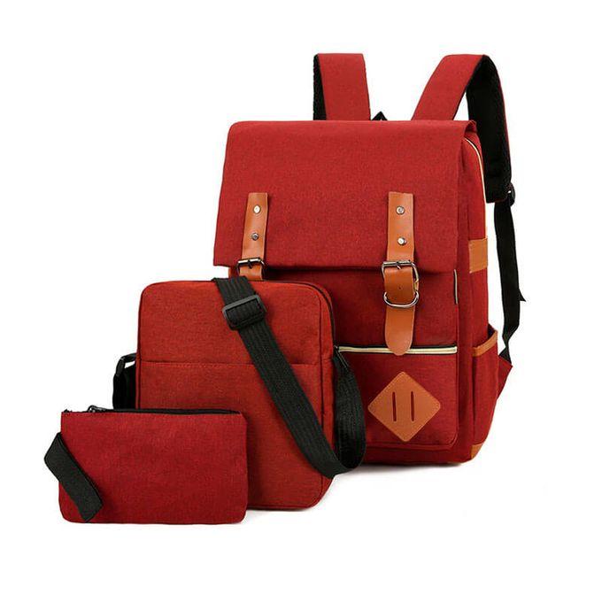 Fashion Modern Fashion Design 3in1 Laptop Backpack Maroon