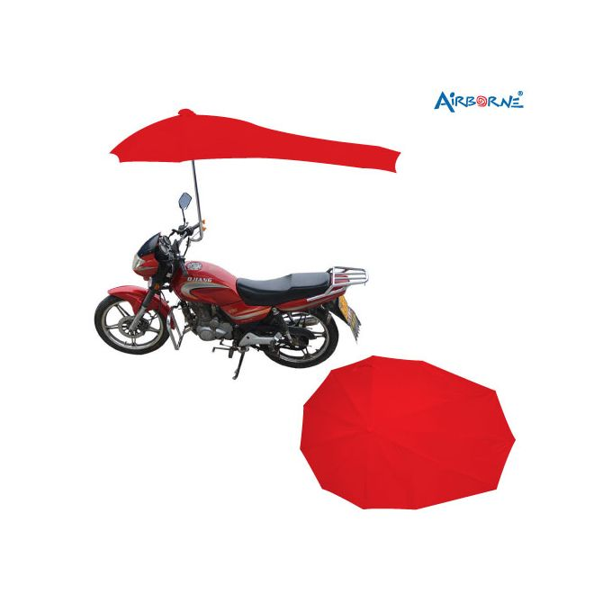 AIRBORNE Motor Cycle Umbrella High Quality - Red