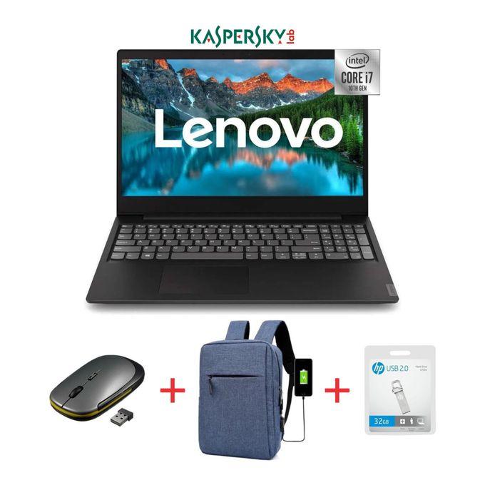 Lenovo Ideapad S145-15.6-10th Gen Intel Core I7-8GB RAM-1TB HDD-Windows 10-Black+Bag+Mouse+32GB Flash