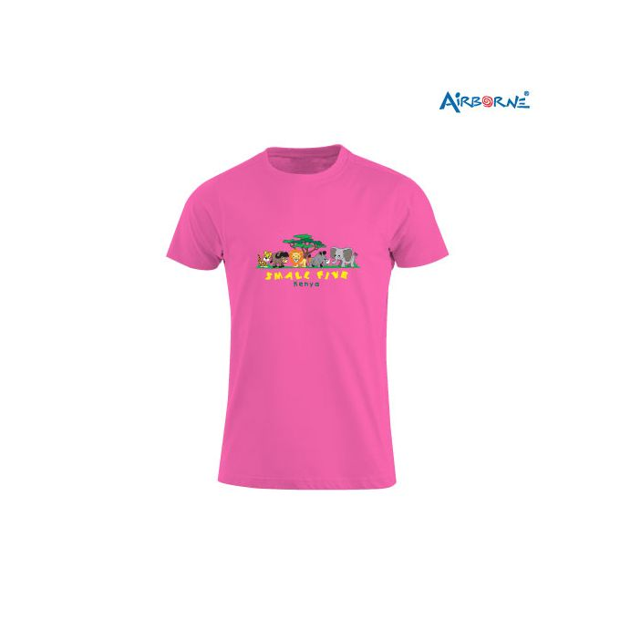 AIRBORNE Tourist Tshirt With Embroidered The Small Five + Tree