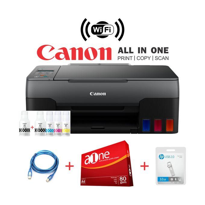 Canon PIXMA G3420-Wirelessly Print, Scan & Copy+Rim+32GB
