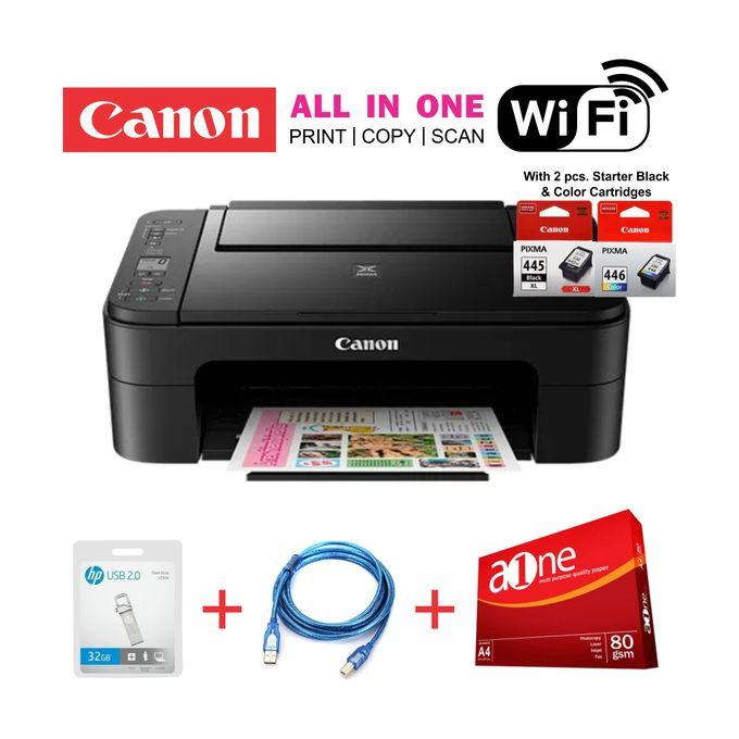 Canon PIXMA TS3140-Wireless AIO Printer+Rim+32GB Flash