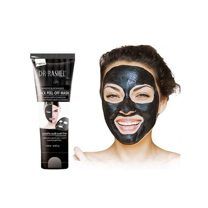 Dr. Rashel Peel Off Facial Mask Acne Treatment -Charcoal & Collagen - 120ML skin