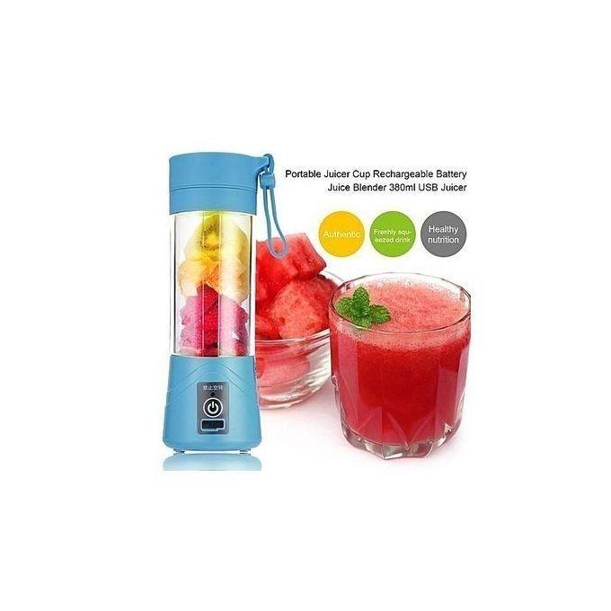 Generic Portable Juicer Cup Rechargeable Battery Juice Blender USB Juicer - Blue