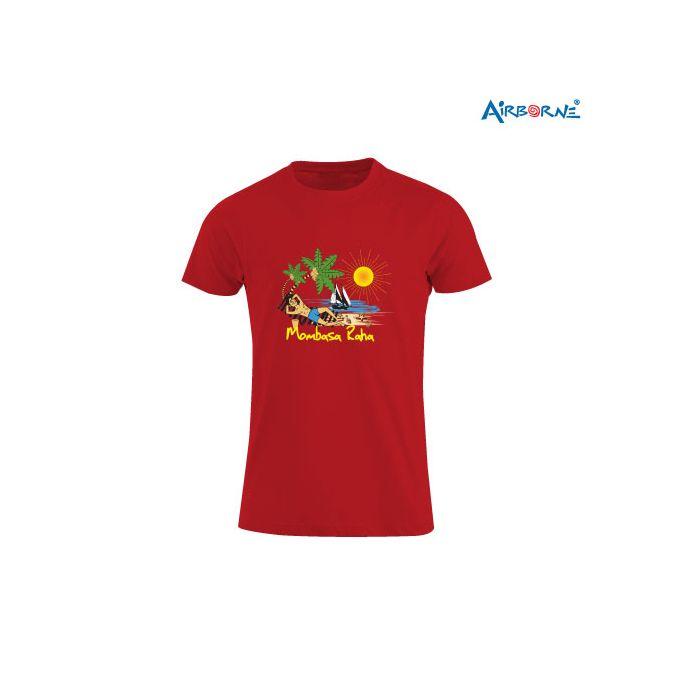 AIRBORNE Tourist Tshirt With Embroidered Mombasa Raha