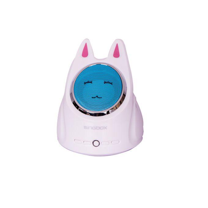 White &Blue Cute Rabbit Radio FM,USB,TF-Portable