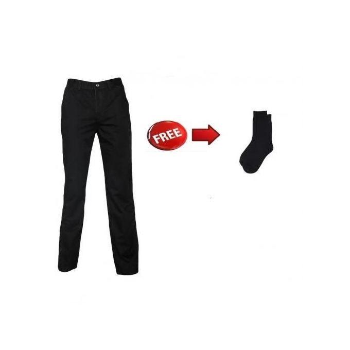 Fashion Black Slim Khaki Pants+FREE Sock