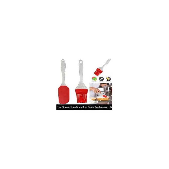 Generic Heat Resistant Silicone Spatula And Free Pastry Brush
