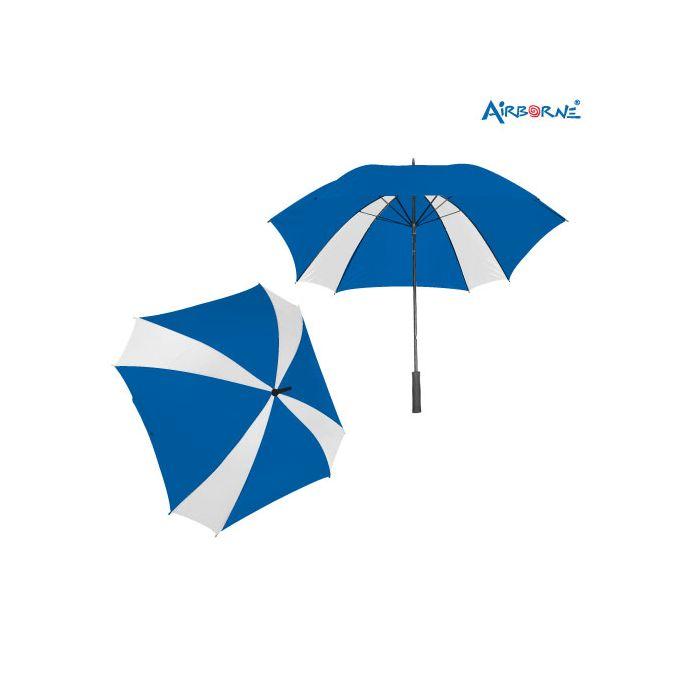 AIRBORNE Standard 8 Panel Umbrella - White/Blue