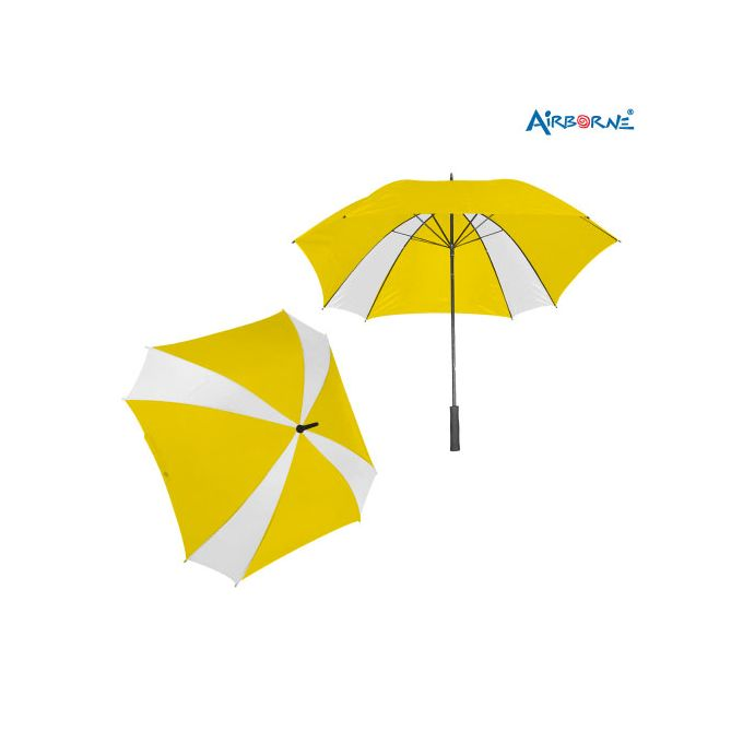 AIRBORNE Standard 8 Panel Umbrella - Yellow/White