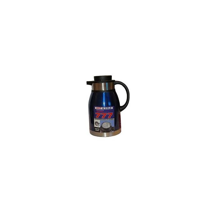 Generic Stainless Steel Vacuum Flask - 2L - Silver & Blue