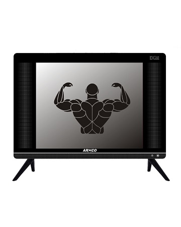 Armco LED-TZ15H1DC - 15 Inch - Digital LED TV - HD Ready - Extra Tough Screen - Extreme Slim - USB Movies - AC/DC - Black