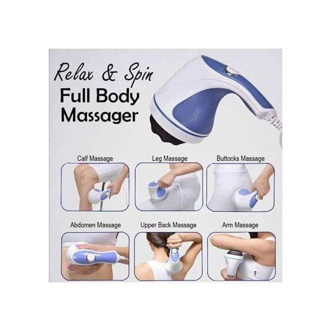 Relax & Tone Full Body Massager - Blue/White