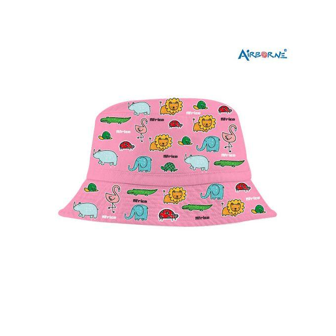 Airborne Africa animals pink bucket hats