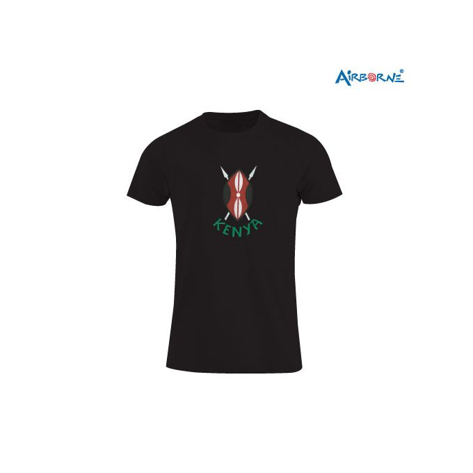 AIRBORNE Tourist Tshirt With Embroidered Kenya Shield