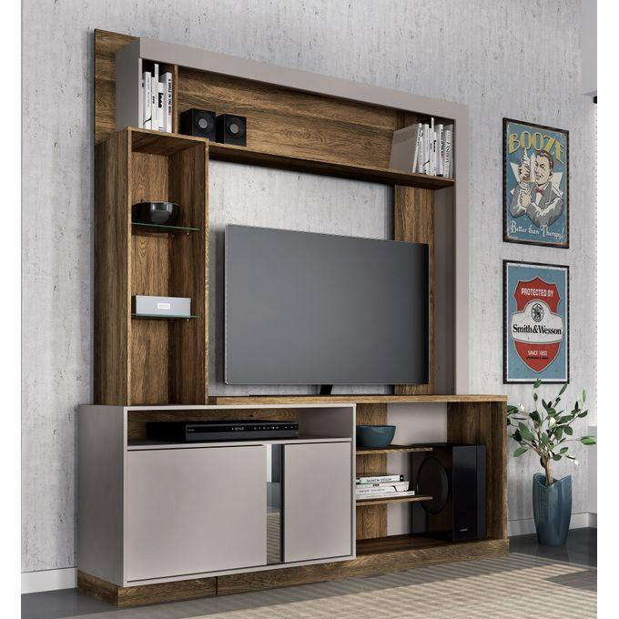 Colibri Wall Unit Rack Orion - Walnut - For Upto 50inchTV