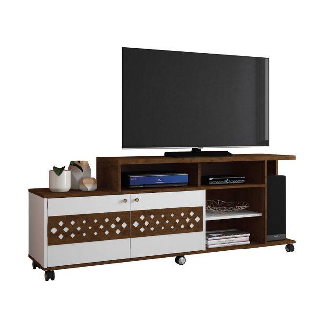 HB Móveis TV STAND BANCADA INOVATTA - CAYNON/WHITE HIGH GLOSS