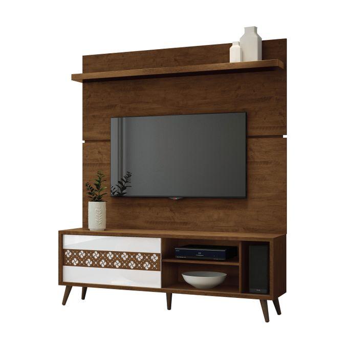 HB Móveis TV STAND BANCADA _LEVIS - CANYON/WHITE HIGH GLOSS