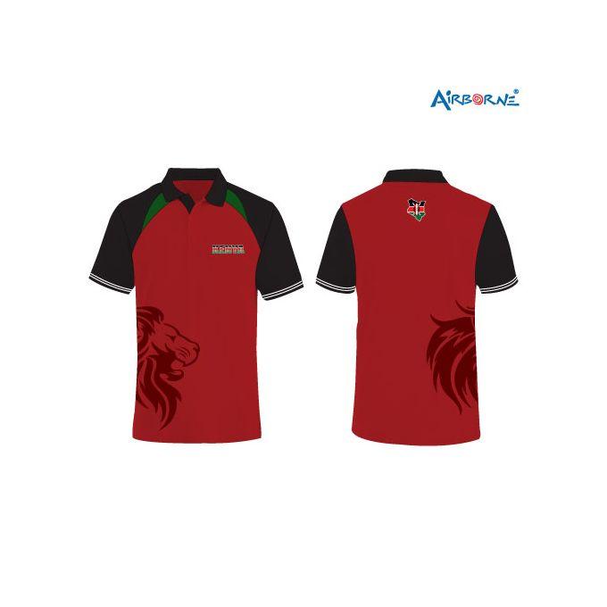 AIRBORNE Mens Rugby Polo Design - Multicolour(Lion print)