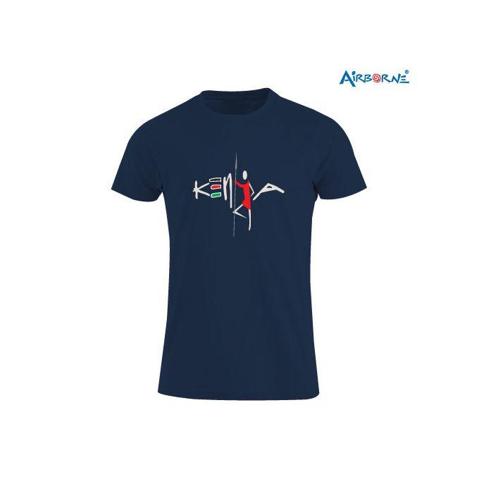 AIRBORNE Tourist Tshirt With Embroidered Masai Kenya