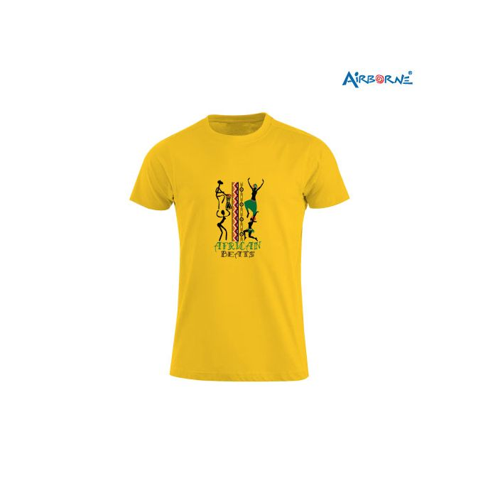 AIRBORNE Tourist Tshirt With Embroidered Of African Beat Abstract