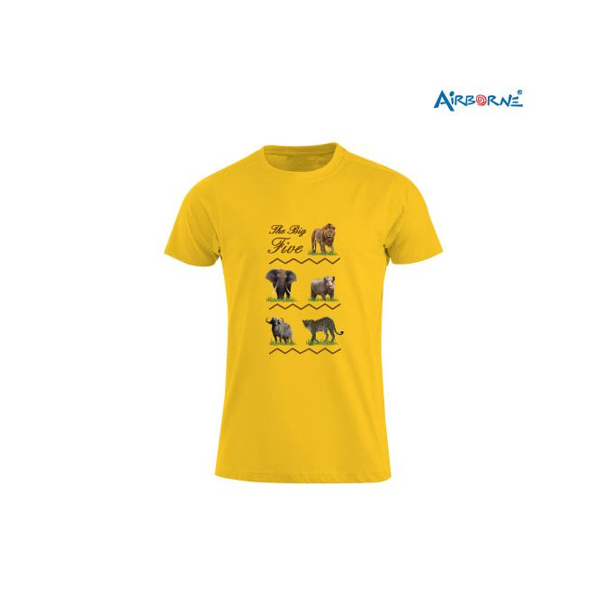 AIRBORNE Tourist Tshirt With Embroidered Big Five Rows