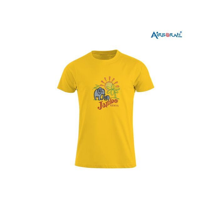 AIRBORNE Tourist Tshirt With Embroidered Elephant Jambo