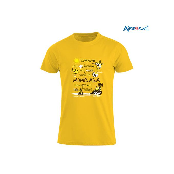 AIRBORNE Tourist Tshirt With Someone In Kenya Mombasa Print