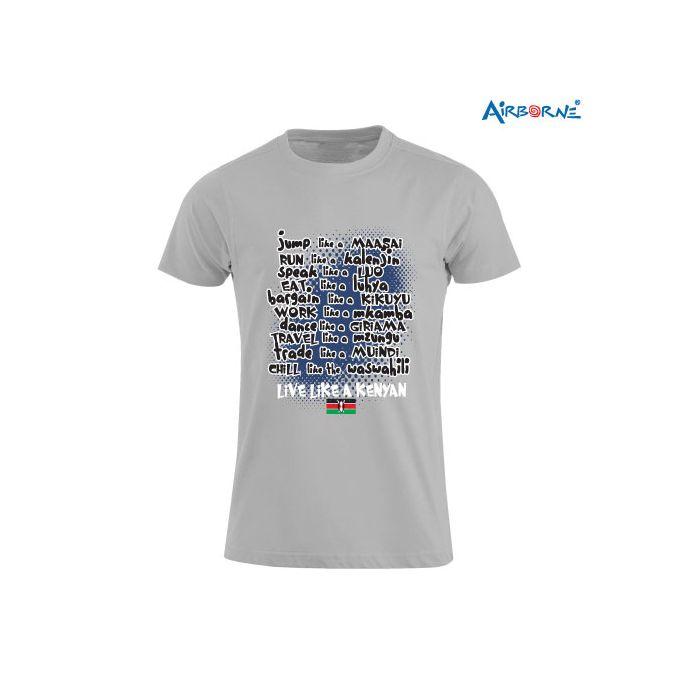AIRBORNE Tourist Tshirt With Live Like A Kenyan Print