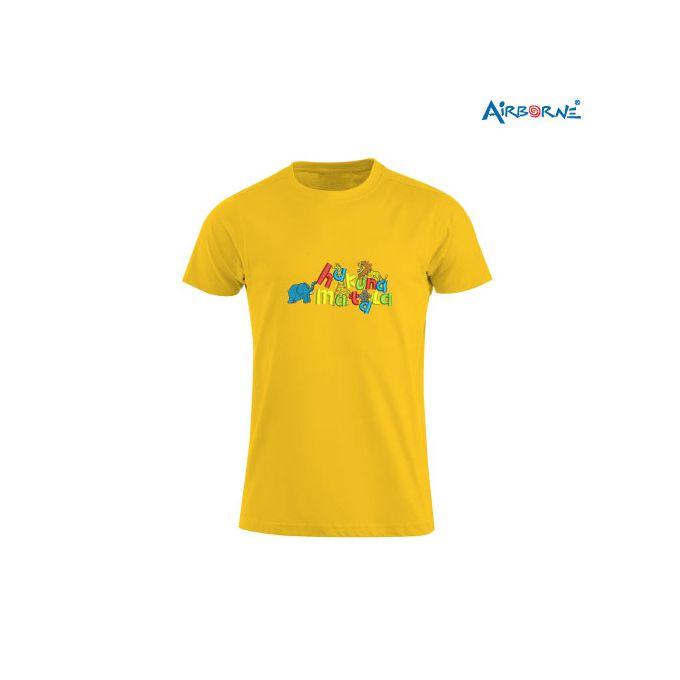 AIRBORNE Tourist Tshirt With Embroidered Hakuna Matata With Animals