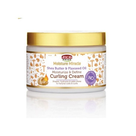 AFRICAN PRIDE Curling Cream With Shea Butter & Flaxseed Oil..340g