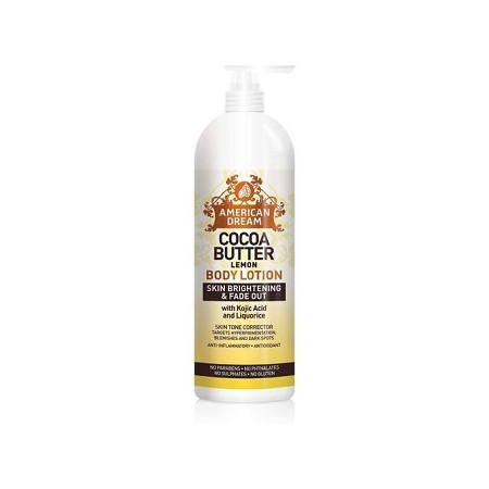 American Dream Lemon Cocoa Butter Lotion For Skin Brightening And Fade Out