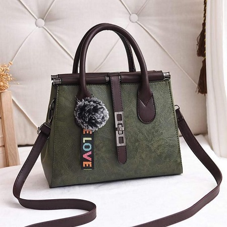 Fashion Green Ladies Classy Handbag