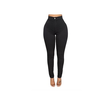 Fashion Black High Waist Jeans