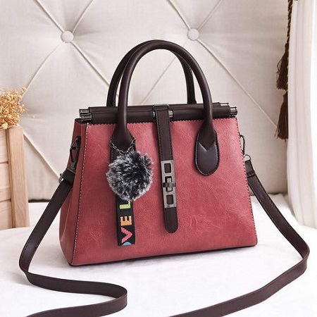 Fashion Pink Ladies Classy Handbag